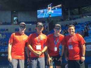 The team on court @ Aus Open